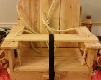 Cedar safety toddler swing, rustic