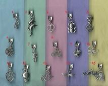 European Style Rope Chains Charm Bracelet Bead Tibetan Silver Choice of 10 different European charms Fits Pandora