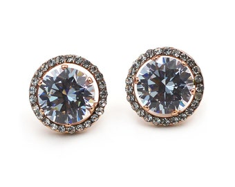 Fashion big crystal earrings