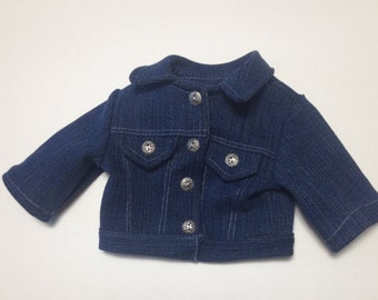 boy doll clothes Denim jean jacket for American Girl boy doll 18 inch denim jacket