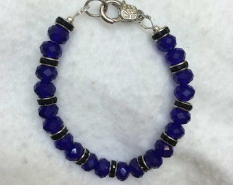 Thin Blue Line Bracelet, Law Enforcement Jewelry...
