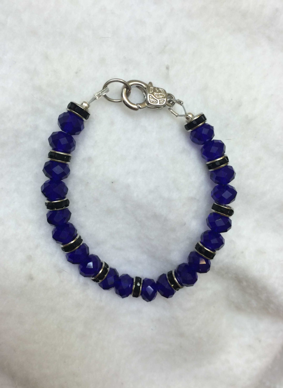 thin blue line bracelet law enforcement jewelry. Black Bedroom Furniture Sets. Home Design Ideas