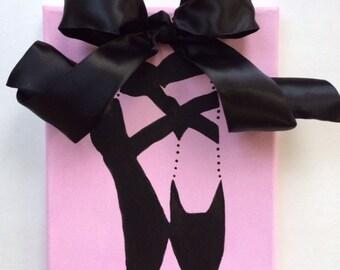 Ballet Art, Ballerina Art, Dancer Art, Girls Pink Room, Original Canvas Art, Kids Gifts, Nursery Gifts, Girls Room Ideas, Dance Studio Art\