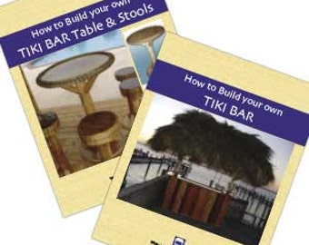 Download-How to Build Your Own Tiki Bar And Tiki Bar Tables & Stools Combo Set Written by Tiki Kev