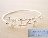 FLASH SALE  20% OFF Handwriting Bangle - Memorial Signature Bangle - Personalized Bangle - Handwriting bracelet - Signature bracelet