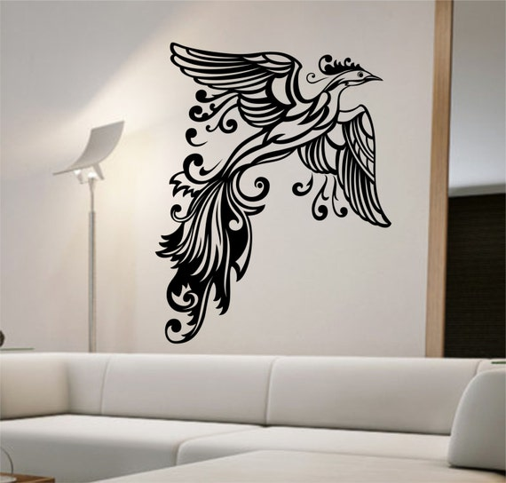 Phoenix Wall Decal Sticker Art Decor Bedroom By StateOfTheWall