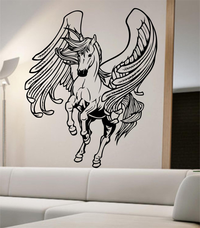 Pegasus Wall Decal Sticker Art Decor Bedroom Design Mural