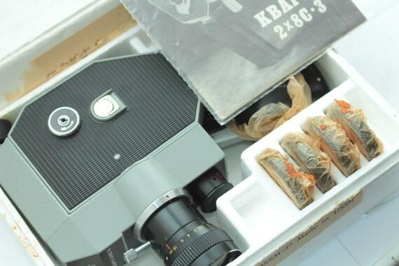 USSR Soviet movie camera QUARTZ 2x8S-3 with Meteor-8m 1,8/9-38 ж!