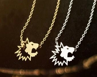Lion Head Necklace, Lion Necklace, Gold Lion Necklace, Animal Necklace, Lion Jewelry, Lion Lover Necklace, Lion Pendant, Lion Charm NB705