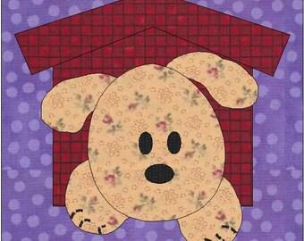 Puppy Dog Quilt Block - PDF Download - Instant Download - Puppy Pattern - Block Pattern - Quilt Pattern - Quilt Block - Block Pattern