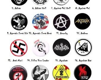 Handmade Punk, Metal, Ska, Political, Rock PINS