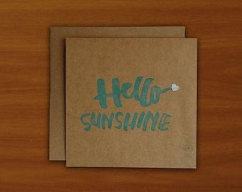 Hello Sunshine Card - Blue