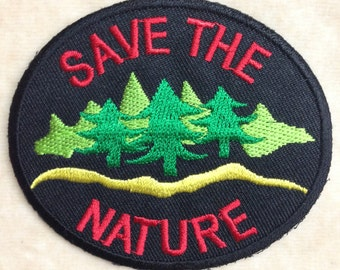 Save The Nature Iron On Embroidery Patch