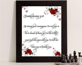 Printable Wall Art, Inspirational Bible Verse, Digital Download Print, Printable Quote Print, Wall Art