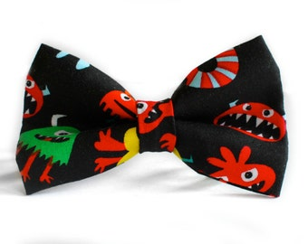 Monster Bow Tie | Bow Tie for Men | For Him | Bowtie | Self Tie | Dog Bow Tie | Mens Bow Tie | Boys Bow Tie | Toddler Bow Tie | Baby Bow Tie