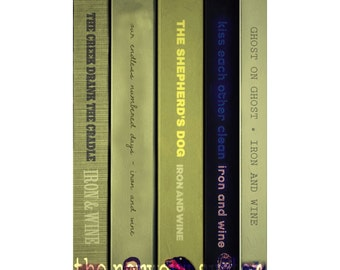 Iron and Wine albums as a series of books (POSTER PRINT)