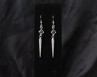 Silver Spike Earrings-- SALE! Get 20% order of 15 dollars or more! Use code NYSALE2016