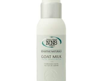 Sensitive Skin Goat Milk Facial Moisturizer, Fragrance, Gluten, Nut Free, Natural Beauty Skin Care