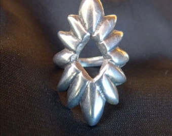 Navaho Sand Cast Ring /  Silver Ring / Navaho Silver Ring / Native American Ring / Sterling Silver Ring / Sand Cast Ring / Indian Ring /