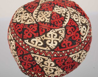 Vintage Turkmen HAT from Yomud tribe , Central Asian Hat, ships free with ups