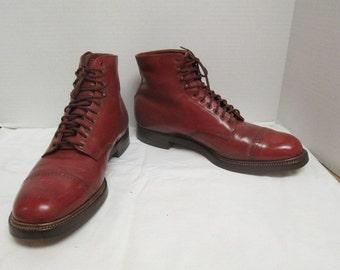 sz 13 d vintage  men  stylish leather  lace up dress ankle boots