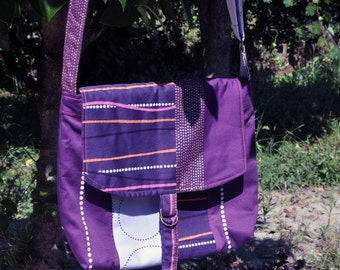 Purple Messenger bag