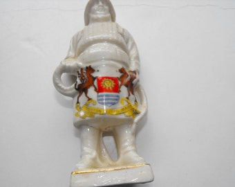 vintage Lifeboat man figurine with crest of Weston Super Mare, UK