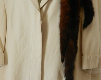 1960s Brown Mink Collar