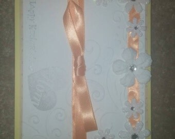 Orange/white/ and tan mother's day card