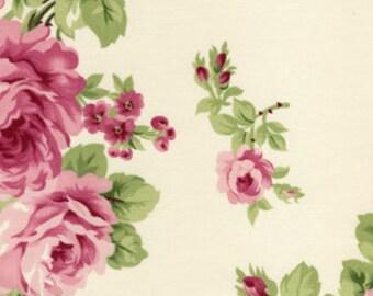 Free Spirit - D1700-011 - Barefoot Roses -Tanya Whelan - Bouquet White -  Pink - Cream - Green - Floral