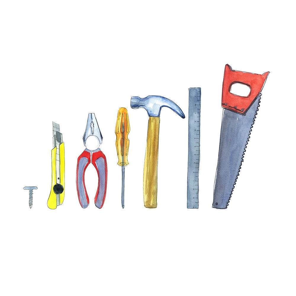 Tools clipart tools kit instant download construction tool set for House decorating tools
