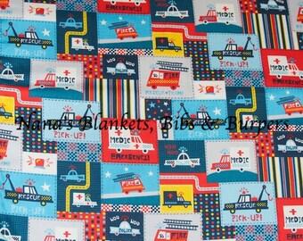 Toddler Flannel Blanket, Fire & Police Blanket, Boys Blankets, Rescue Squad, Flannel Blanket, Youth Bedding, Boys Bedding, Toddler Blanket