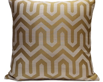 Gold and Off White, Ivory Pillow, Throw Pillow Cover, Decorative Pillow Cover, Cushion Cover, Pillowcase, Accent Pillow, Cotton Blend Pillow
