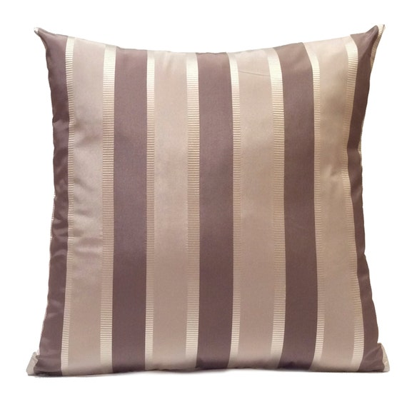 Silver & Purple Gray Pillow Throw Pillow Cover Decorative