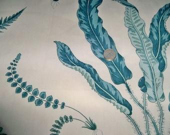 LEE JOFA GP J Baker Botanical Strolling Ferns Fabric 10 Yards Aquagreen Cream