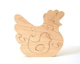 Chicken Wooden Puzzle