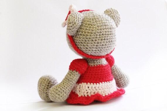 PATTERN : Bear- teddy Bear Girl-Amigurumi bear pattern ...