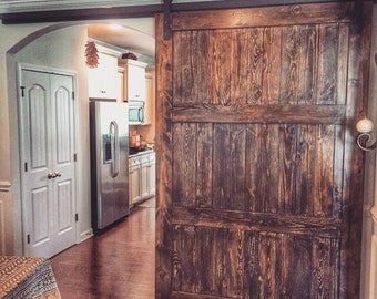 Beautiful rustic sliding barn door