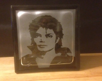 Michael Jackson glass block