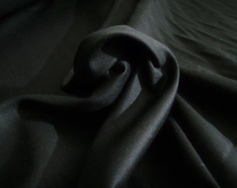 Black cotton drill fabric by the metre