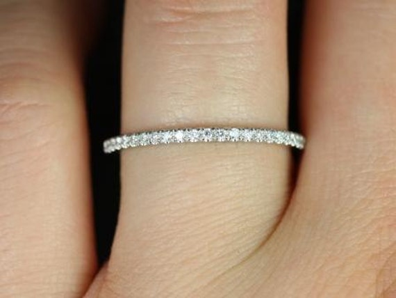 Platinum 1 8mm Full Eternity Band Micro Pave F Vs2 0 48ctw