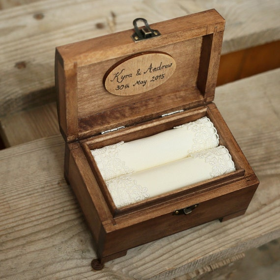 wedding ring box personalized wedding ring box rustic wooden ring box 9935