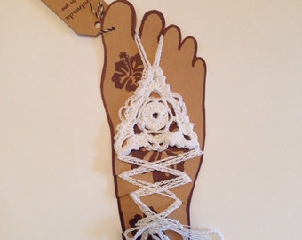 Crochet barefoot sandals. Custom knits.
