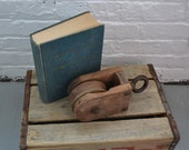 Vintage Wooden Box Pulley