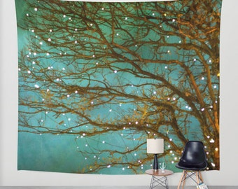 Wall Tapestry. Home Decor. Large Size Wall Art. Photo tapestry Wall Decor, whimsical tree branches woodland tapestry forest tapestry