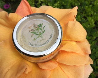Organic Petal Translucent Powder, ZERO MINERAL! Vegan, Mica-Oxide-Talc Free, Neutral Tint , Setting Powder, Finishing Powder