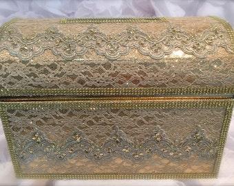 large treasure chest moneybox/wedding money box/wedding cardholder/gift holder/gift box