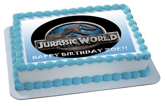 Jurassic World edible image cake topper by SugarPRINTcess ...