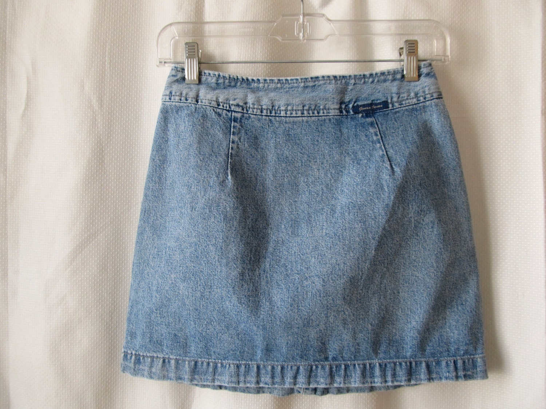 guess light blue mini skirt vintage 1990 s