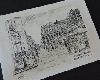 Vintage New Orleans Jackson Square - Brent McCarthy Lithograph